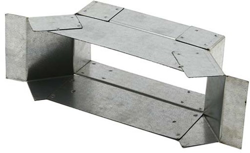 Zijaansluiting 220mm x 80mm voor rechthoekig instortkanaal